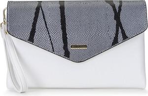 Czarna torebka Wittchen w stylu glamour mała ze skóry ekologicznej