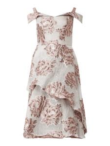Sukienka Chi Chi London z dekoltem w kształcie litery v mini z krótkim rękawem