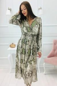 Sukienka N/A z długim rękawem