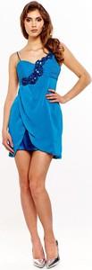 Sukienka Fokus z dekoltem w kształcie litery v z tkaniny