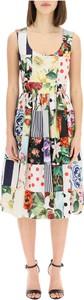 Sukienka Dolce & Gabbana z dekoltem w kształcie litery v na ramiączkach midi