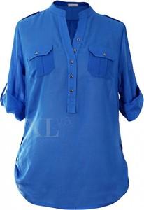 Niebieska bluzka Sklep XL-ka z bawełny
