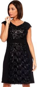 Czarna sukienka Plus Size Fashion mini