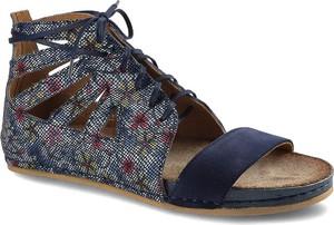 Granatowe sandały Maciejka sznurowane w stylu casual