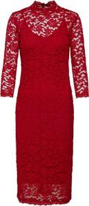 Czerwona sukienka Rosemunde midi