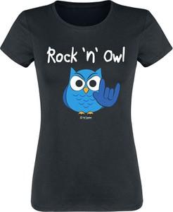 Czarny t-shirt Emp w młodzieżowym stylu z bawełny
