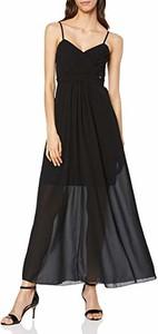 Sukienka amazon.de z dekoltem w kształcie litery v maxi rozkloszowana