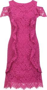 Sukienka Pinko midi z okrągłym dekoltem
