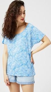 T-shirt Moodo z krótkim rękawem z okrągłym dekoltem