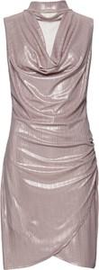 Sukienka bonprix BODYFLIRT boutique midi asymetryczna z dekoltem typu choker