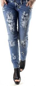 Niebieskie jeansy Sexy Woman z bawełny