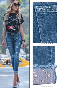 Jeansy Ivet.pl w street stylu z jeansu