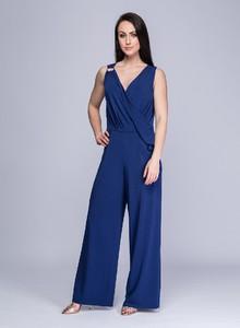 Niebieski kombinezon Semper z długimi nogawkami