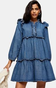 Sukienka Topshop w stylu casual z jeansu mini