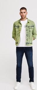 Zielona kurtka Reserved z jeansu