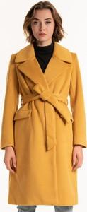 Żółty płaszcz Gate w stylu casual