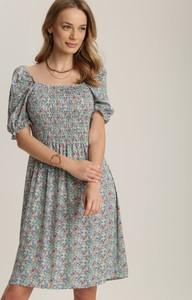 Zielona sukienka Renee mini z krótkim rękawem