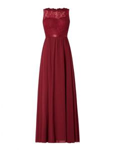 Czerwona sukienka Luxuar z szyfonu maxi