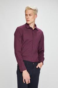 Bordowa koszula Trussardi Jeans z długim rękawem