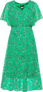 Sukienka DKNY rozkloszowana z krótkim rękawem w stylu casual