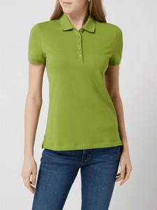 Zielona bluzka Montego z bawełny z krótkim rękawem w stylu casual
