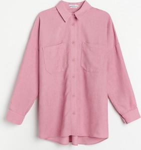 Różowa koszula Reserved w stylu casual