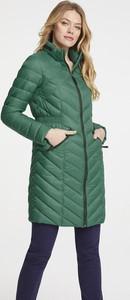 Zielony płaszcz Heine
