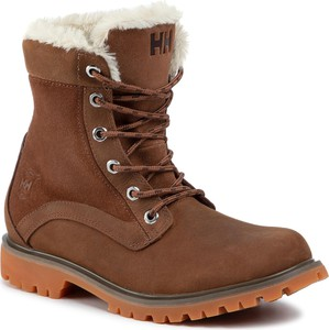 Brązowe buty zimowe Helly Hansen sznurowane