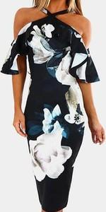 Sukienka Kendallme midi z okrągłym dekoltem