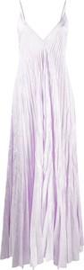 Sukienka Forte Forte maxi z dekoltem w kształcie litery v