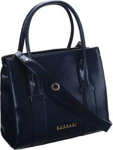 Niebieska torebka Monnari na ramię ze skóry duża
