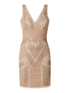 Sukienka Lace & Beads z dekoltem w kształcie litery v prosta