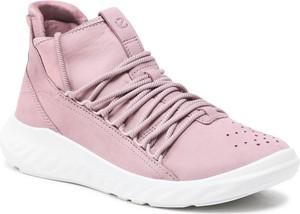 Buty sportowe Ecco w sportowym stylu z płaską podeszwą z nubuku