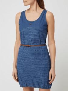 Niebieska sukienka Alife And Kickin mini z okrągłym dekoltem