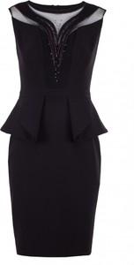 Czarna sukienka VISSAVI ołówkowa bez rękawów mini