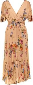 Sukienka Persona by Marina Rinaldi maxi z dekoltem w kształcie litery v
