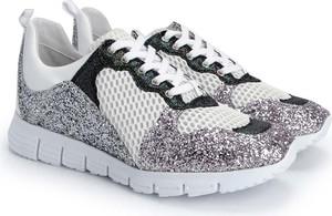 Sneakersy Patrizia Pepe sznurowane z płaską podeszwą