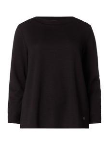 Czarna bluzka Samoon z okrągłym dekoltem