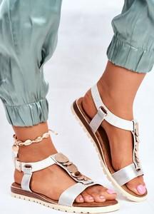 Srebrne sandały Eve