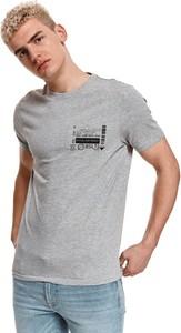 T-shirt Top Secret z nadrukiem z krótkim rękawem z tkaniny