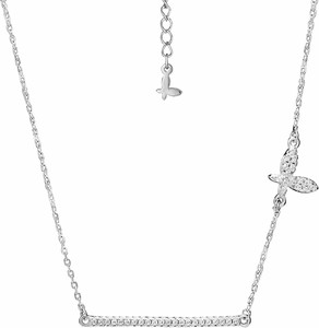 SADVA Naszyjnik srebrny z motylem cyrkonie