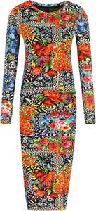 Sukienka Versace Jeans z okrągłym dekoltem w stylu casual