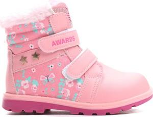 Różowe buty zimowe born2be ze skóry ekologicznej