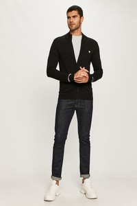 Czarny sweter Guess w stylu casual