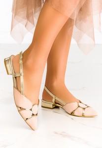 Baleriny Casu w stylu casual z płaską podeszwą