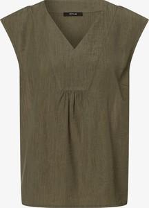 Zielona bluzka Opus w stylu casual z krótkim rękawem