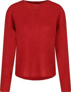Czerwony sweter Silvian Heach z wełny w stylu casual