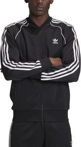 Czarna bluza Adidas z dresówki w sportowym stylu