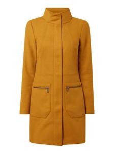 Żółty płaszcz Tom Tailor Denim z wełny w stylu casual