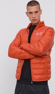Pomarańczowa kurtka Emporio Armani krótka